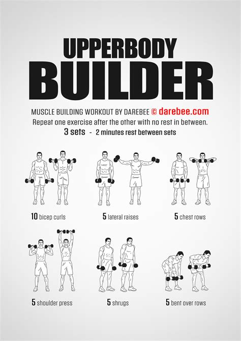 home dumbbell workout no bench upperbody builder workout