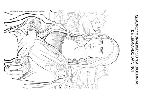 free coloring pages of the monalisa
