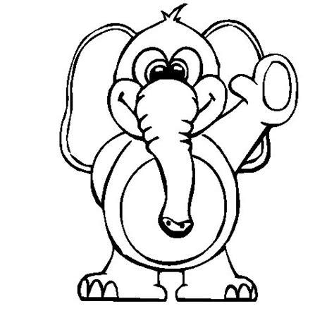 imagenes para colorear elefante dibujo de elefante 2 para colorear dibujos net