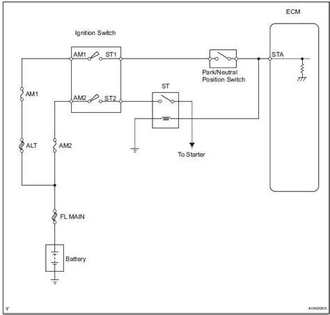 toyota rav4 service manual starter relay circuit high