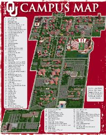 ou map universityparent guide to of oklahoma of oklahoma cus map