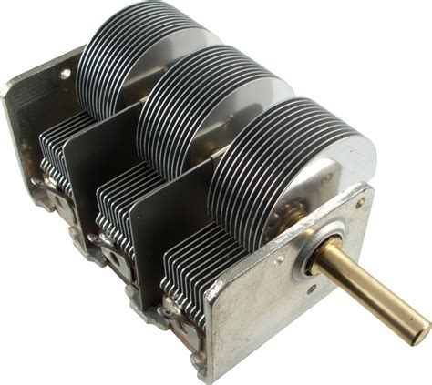 variable capacitor audio capacitor variable 3 section 500 pf ccw rotation ce distribution
