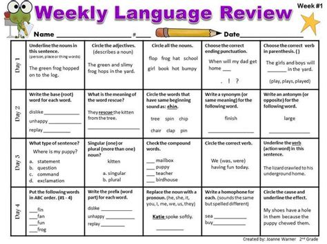 Http Www Wcu Edu Webfiles Pdfs Mba Weekly 3 18 Pdf by Daily Language Review Worksheets Worksheets For All