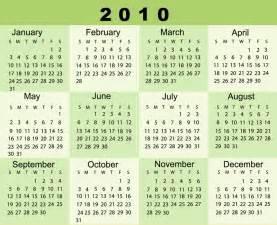 Calendar For 2010 About 2010calendar Org 2010 Calendar