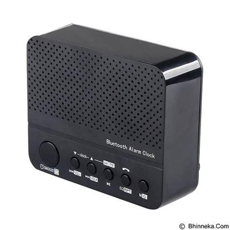 Speaker Bluetooth Led Meja Jam Radio Fm Dan Alarm jual cakra nusantara bluetooth speaker with alarm clock murah bhinneka