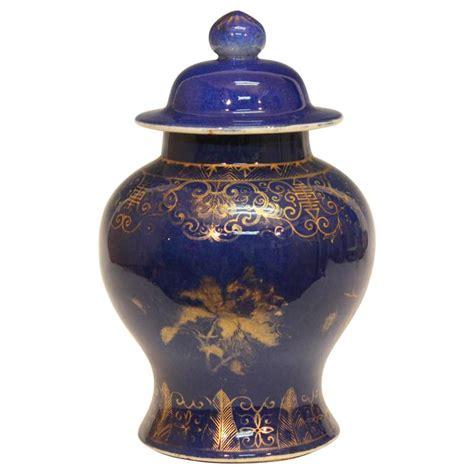 ginger jar vase antique chinese porcelain gilt powder blue ginger jar vase