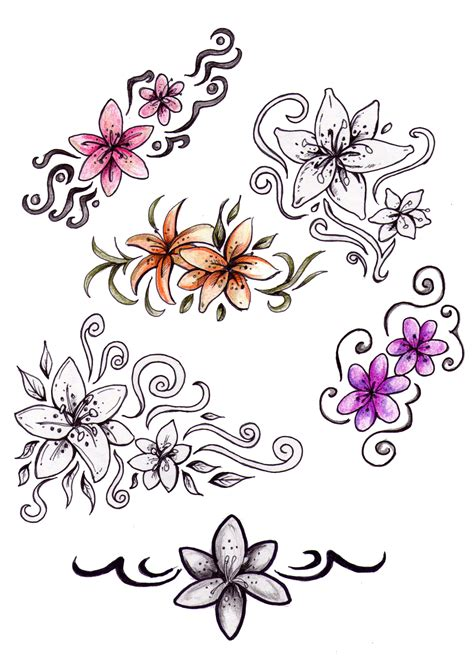 tattoo design flower mountains and rivers 15 cute tattoo images designs
