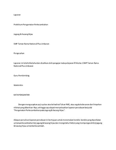 contoh pembuatan laporan praktikum biologi contoh laporan biologi