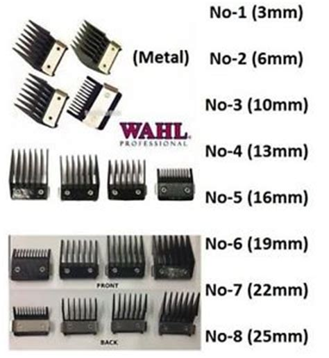 using a number 8 and 5 guards for medium cut on mens hair attachment combs for wahl hair clippers with metal