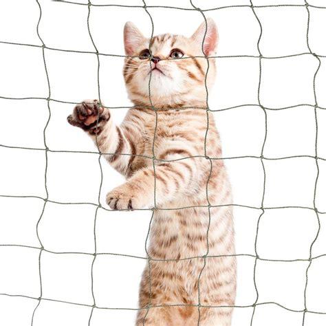 Cat Balcony Net in 50mm mesh, 1.2mm yarn Ø, olive green