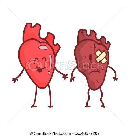 imagenes de corazones sanos coraz 243 n malsano humano 243 rgano divertido sano m 233 dico