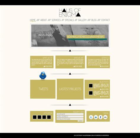 wordpress mockup layout haus of enigma wordpress theme mockup by