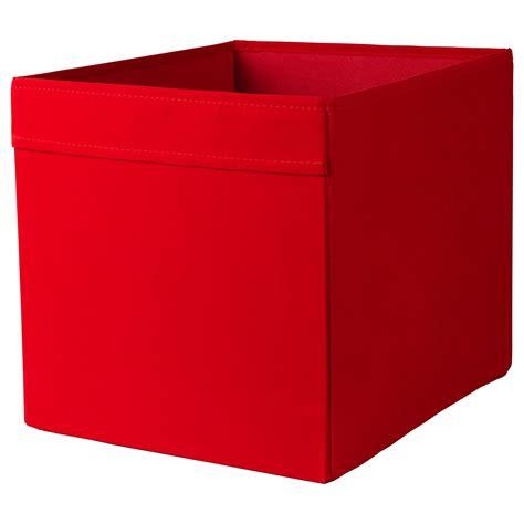 ikea filing storage boxes dr 214 na box red 33x38x33 cm ikea