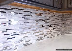 Kitchen With Mosaic Backsplash by 5 Modern White Marble Glass Metal Kitchen Backsplash Tile