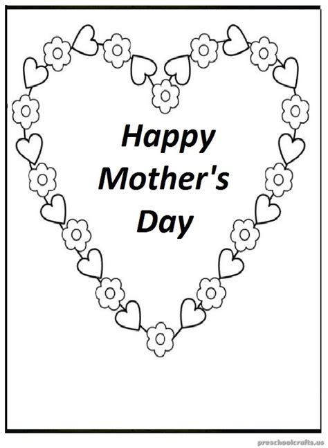 mothers day coloring pages for preschool mother s day free printable coloring pages for preschool