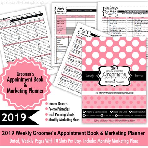 Grooming Appointment Templates Dog Grooming Appointment Book