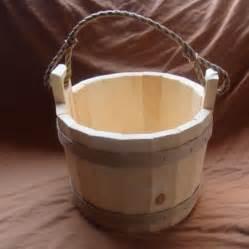 wooden wishing  bucket   garden