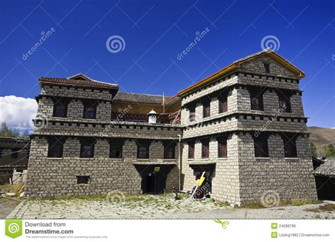 tibet house tibet house royalty free stock image image 24288796