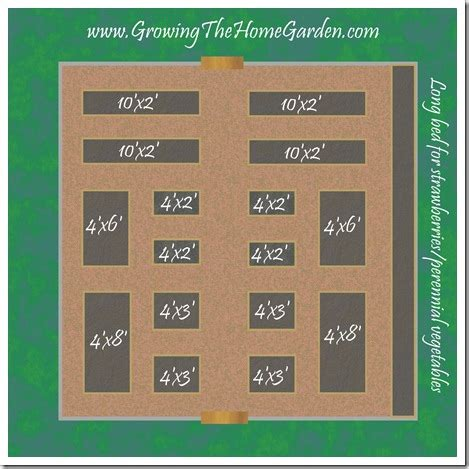 Garden Designs And Layouts A B C Na Arquitectura Raised Bed Vegetable Garden Layout