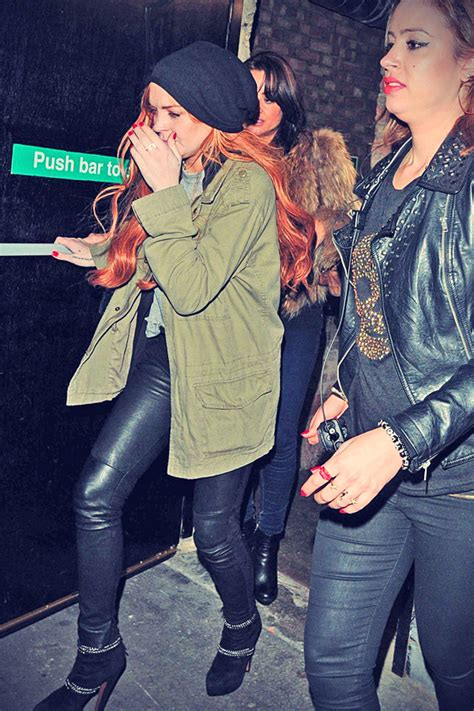 Lindsay Lohan Leaves Hospital Goes To Club by Lindsay Lohan Leaves The Club Leather
