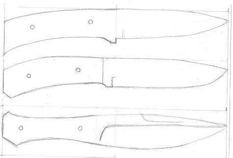 layout blade template knife templates