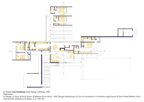 Kaufmann House Floor Plan | coloring a plan layout imp plans pinterest layouts