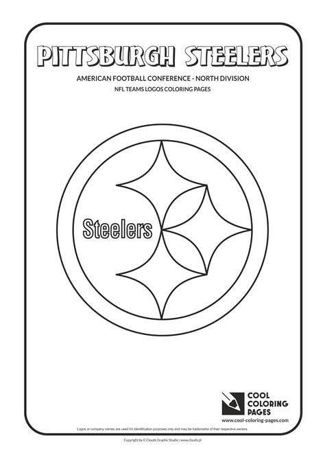coloring pages of nfl logos steelers football coloring pages coloring pages