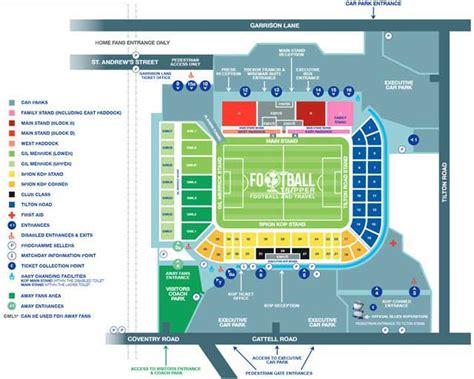 Park West Floor Plan by St Andrew S Stadium Guide Birmingham F C Football Tripper