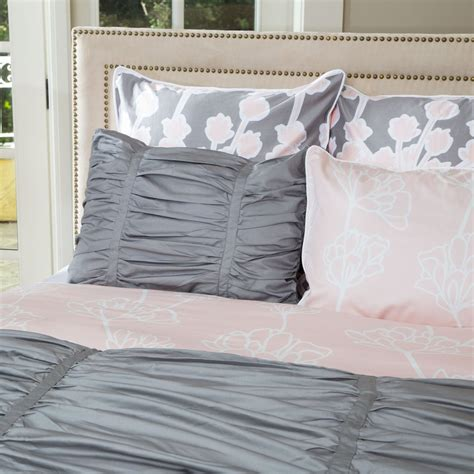 grey ruched comforter grey ruched duvet cover the mirabel grey crane canopy