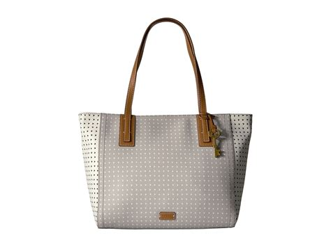 Fossil Tote Grey Bag Zb7126020 fossil tote grey white zappos free shipping both ways
