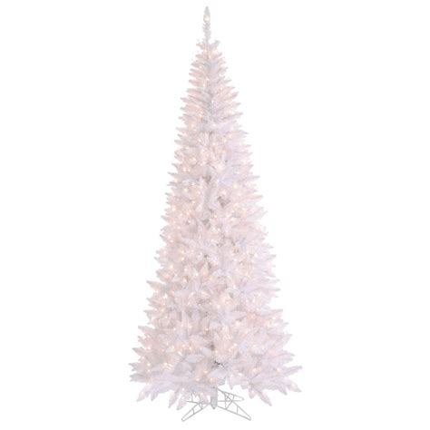 6 5 foot white slim fir christmas tree clear lights