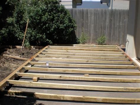 build diy install deck  concrete patio  plans