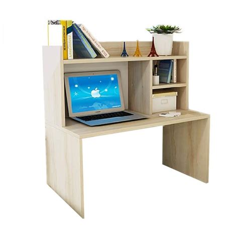jual best furniture mini desk lesehan meja laptop belajar dan rak sebaguna kayu oak