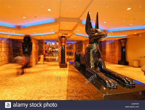 Foyer Interior by Statue Of Anubis In The Lobby Of The Luxor Hotel Amp Casino