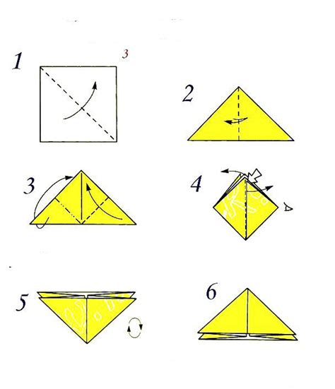Triangle Origami - the basic form of the quot triangle quot