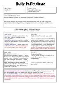structured reflective template reflective practice in childcare search