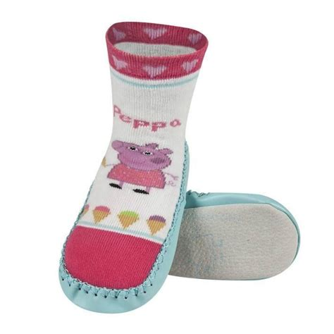 children s moccasin slipper socks peppa pig children s moccasin slippers soxo socks