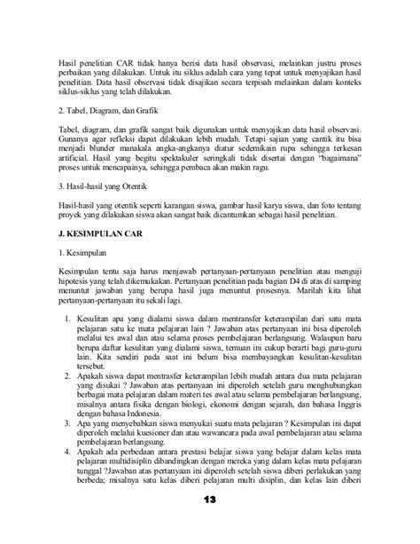 membuat latar belakang karya ilmiah karya tulis ilmiah hasil pelaksanaan penelitian tindakan