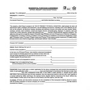 property purchase agreement template sle residential purchase agreement 7 free documents