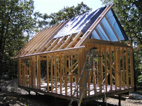 Cabin Roof Construction by In The Sticks