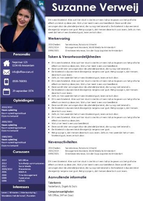 Cv Sjabloon Office 2010 25 Beste Idee 235 N Cv Sjabloon Op Creative Cv Template Creatieve Cv En Curriculum