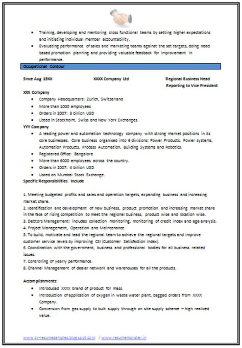 resume format for experienced mechanical engineer 10000 cv and resume sles with free