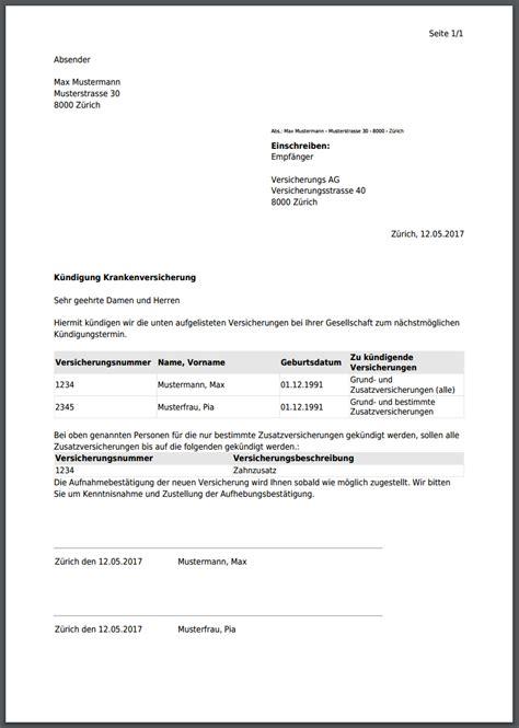 Muster Kündigung Berlin Direkt Versicherung K 252 Ndigungsfrist Bei Krankenkassen In Der Schweiz