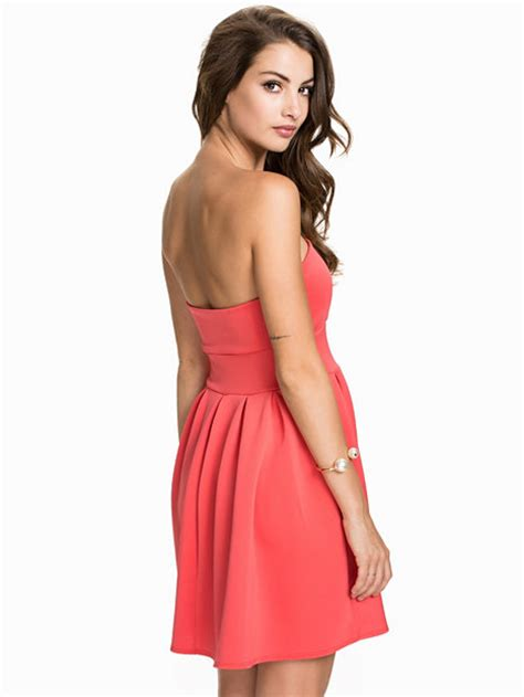Nelly Dress 1 gathered dress nly one coral dresses clothing nelly