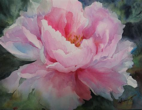 watercolor tutorial peony peony watercolor flowers pinterest peony watercolor