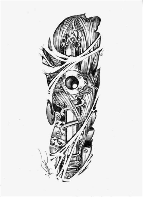 mechanical tattoo design design suspension 3d bio mechanical designs