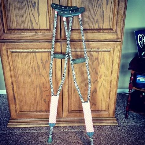 How To Make Crutch Handles More Comfortable by The Crutches I Decorated With Two Different Kinds Of Duct