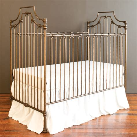 Wrought Iron Baby Crib Parisian 3 In 1 Crib Vintage Gold