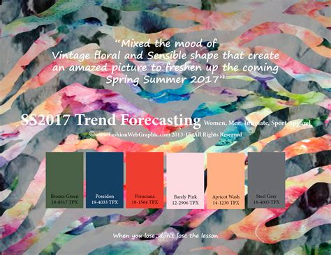 color forecast 2017 ss2017 trend forecasting on behance