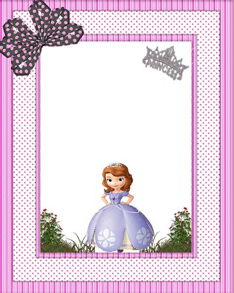 Frame Design Sofia | sofia the first free printable invitations or photo frames